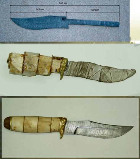 формы ручек на ноже